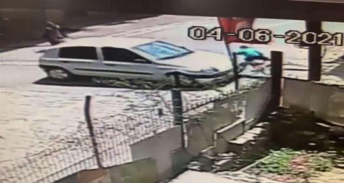 Esenyurt'ta bisikletli çocuğa araba çarpma anı güvenlik kamerasında