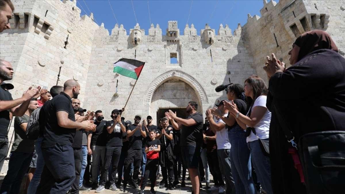 Filistinli gruplar, İsrail'i Şam Kapısı'ndan geçerek 'bayrak yürüyüşü' düzenleme
