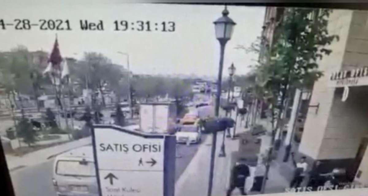İstanbul'da lüks sitede kazmalı ve silahlı kavga kamerada