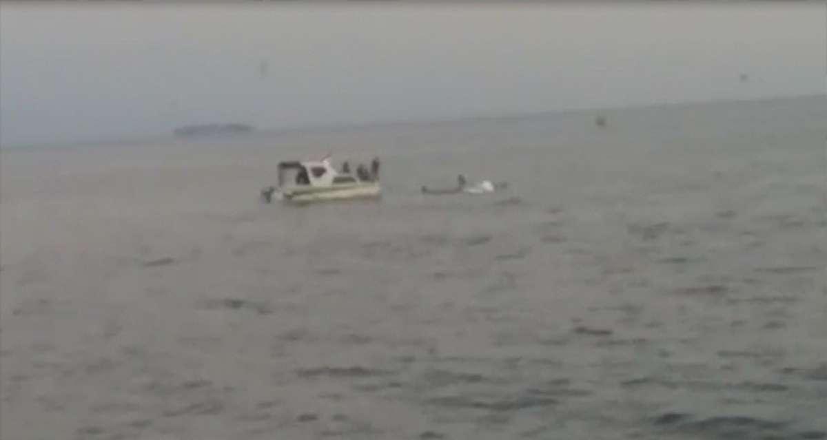 Küçükçekmece açıklarında bir tekne alabora oldu: 4 kişi kurtarıldı