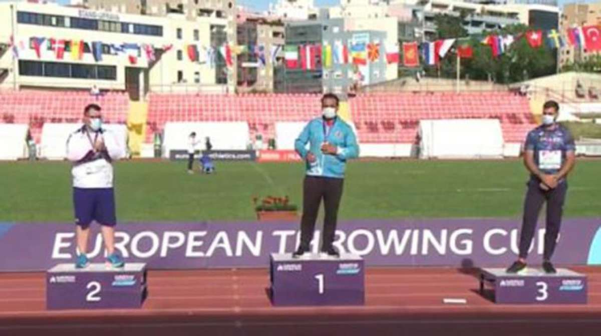 Milli atlet Eşref ve Özlemden Avrupa Atmalar Kupası'nda altın...