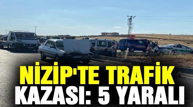 Nizip'te trafik kazası: 5 yaralı