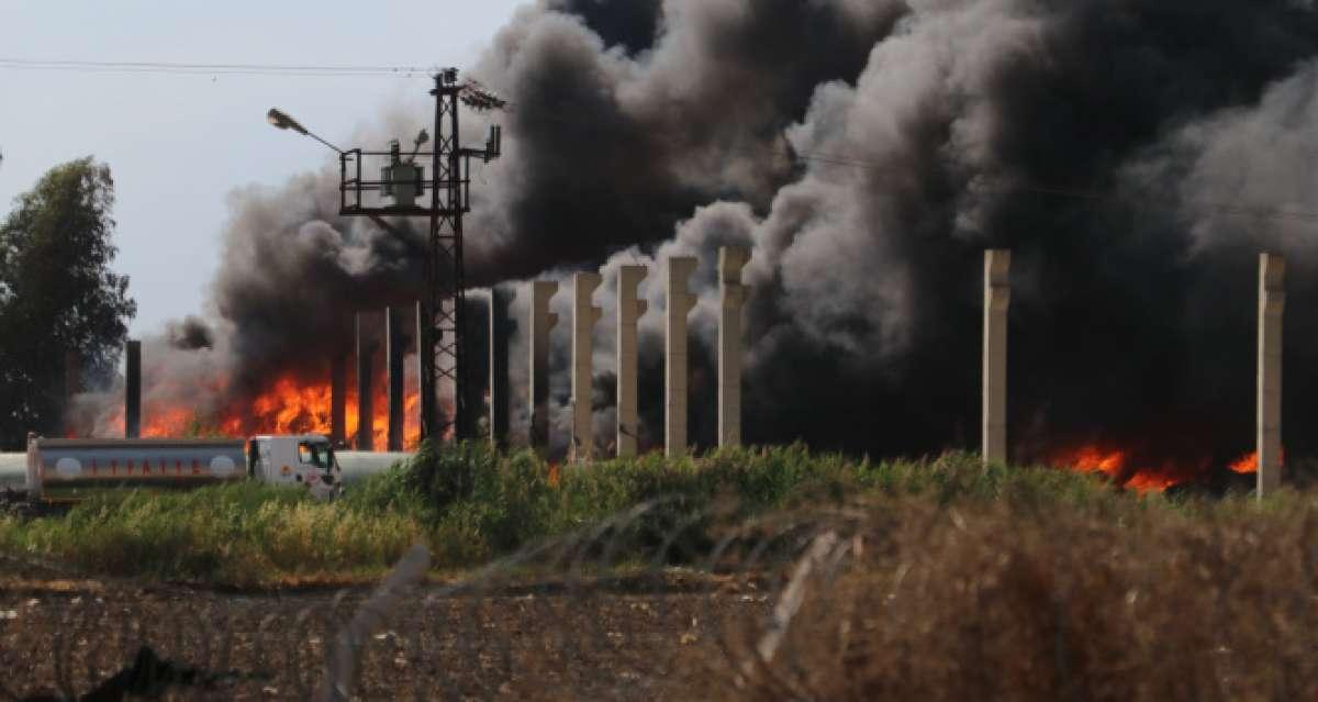 Plastik geri dönüşüm fabrikasından yangın
