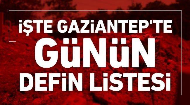 Gaziantep'te Bugün kaç kişi toprağa verildi?