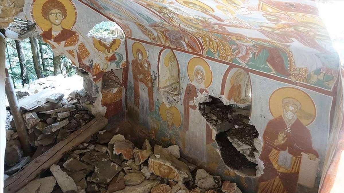 Sümela Manastırı'nın kayalıklarındaki saklı şapelin restorasyonu için proje hazırlanıyor